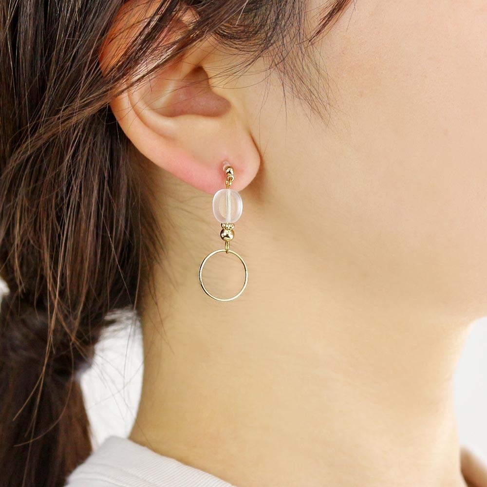 Asymmetric Clear Srone Non Pierced Earrings