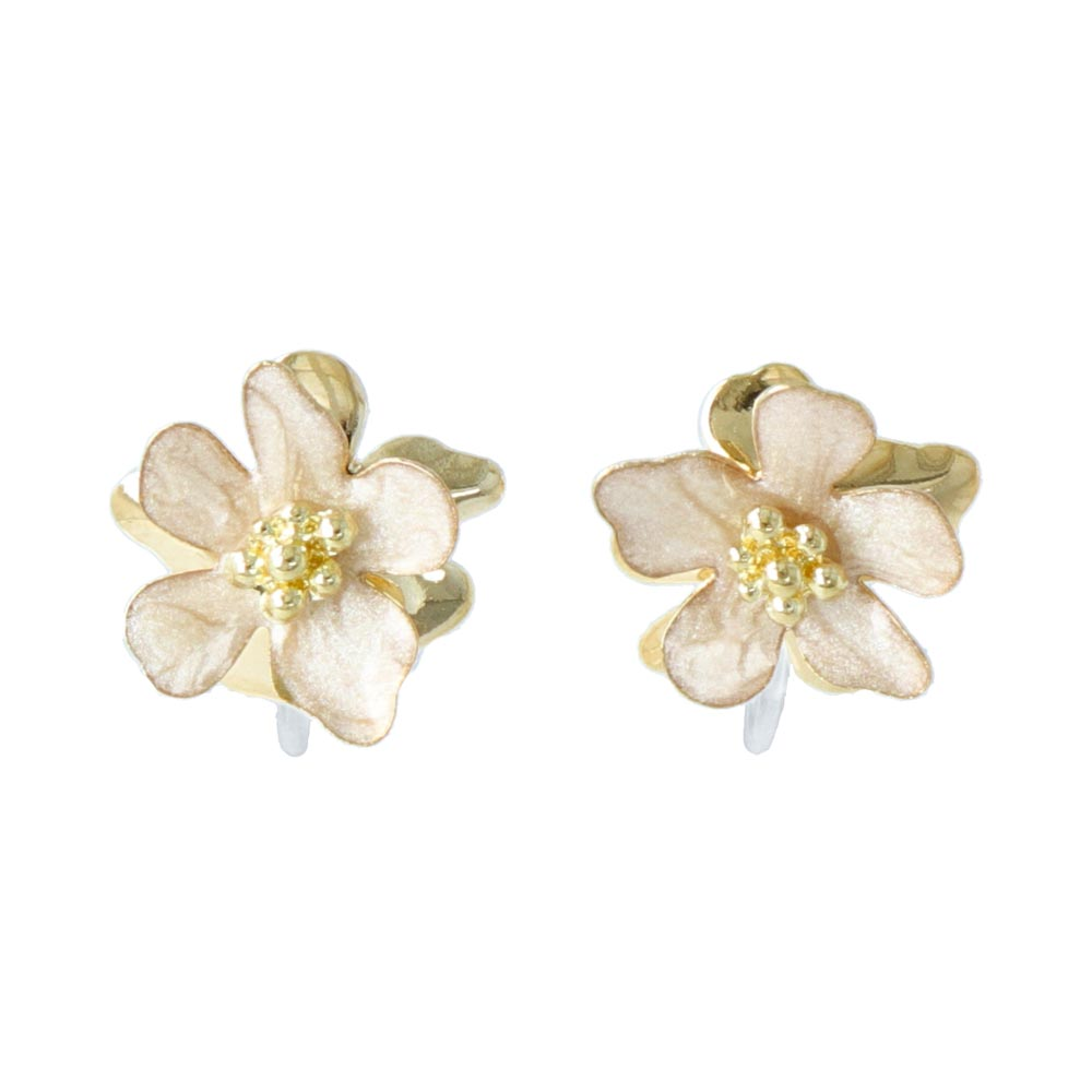 Epoxy Flower Invisible Clip On Earrings - osewaya