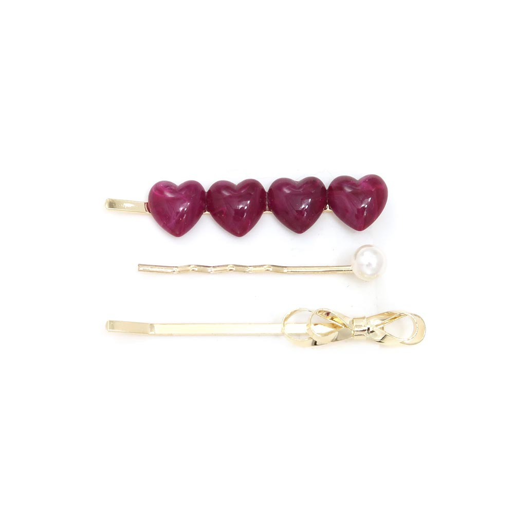 Heart Hairpin Set