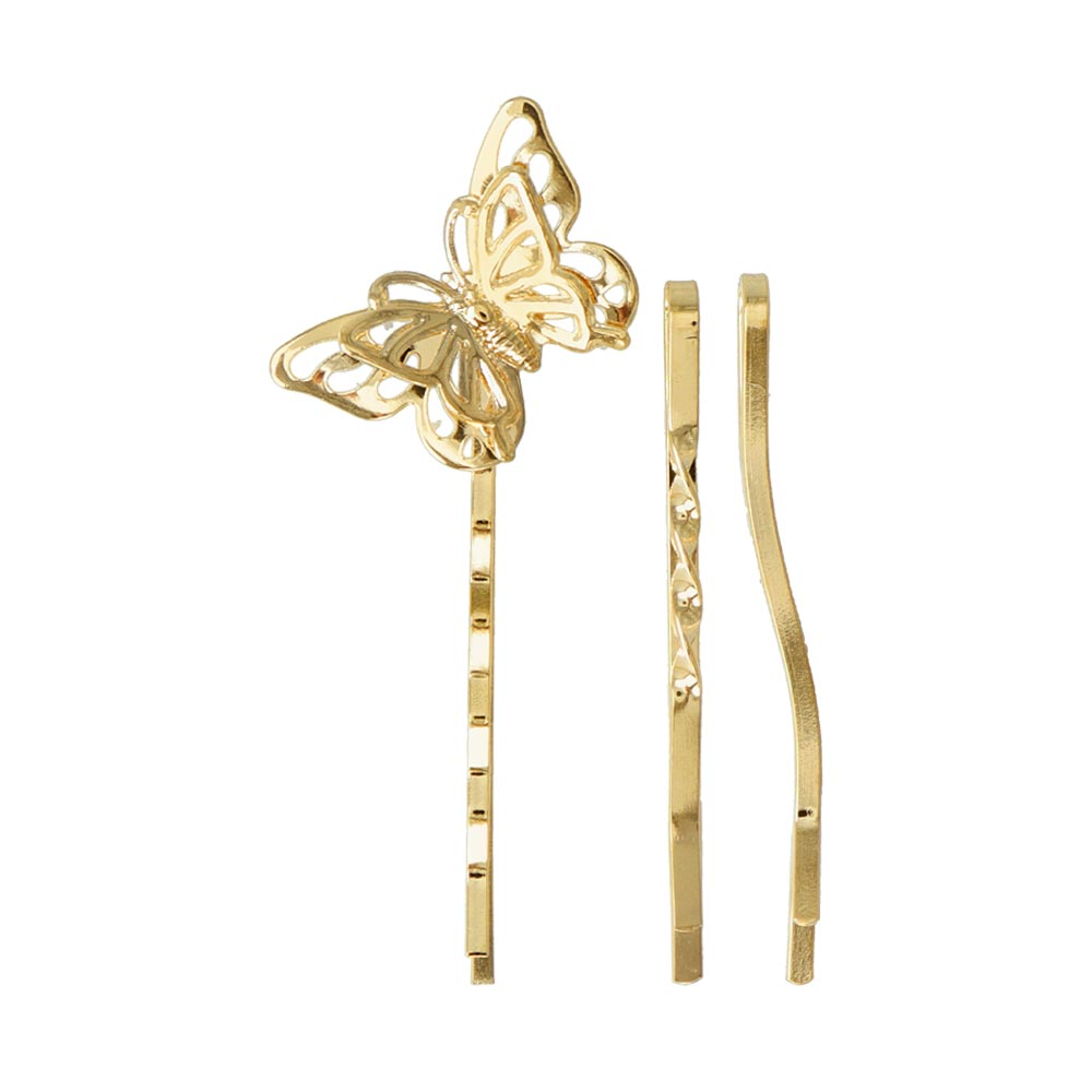Butterfly Plain Hairpin Set - osewaya