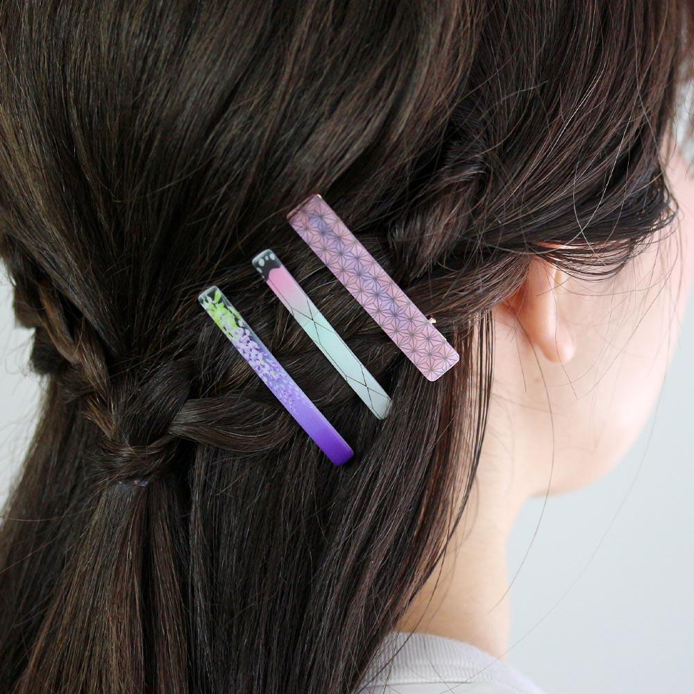 Taisho Era Retro Modern Japanese Pattern Hair Clip Set