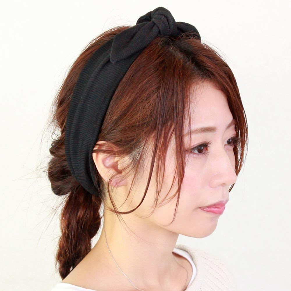 Knotted Bow Ribbed Headband