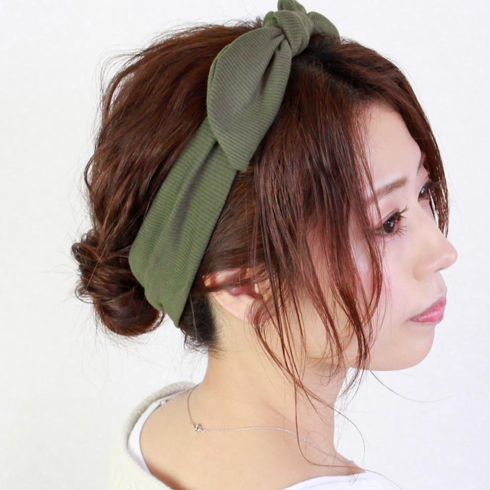 Bow Turban Ribbed Headband