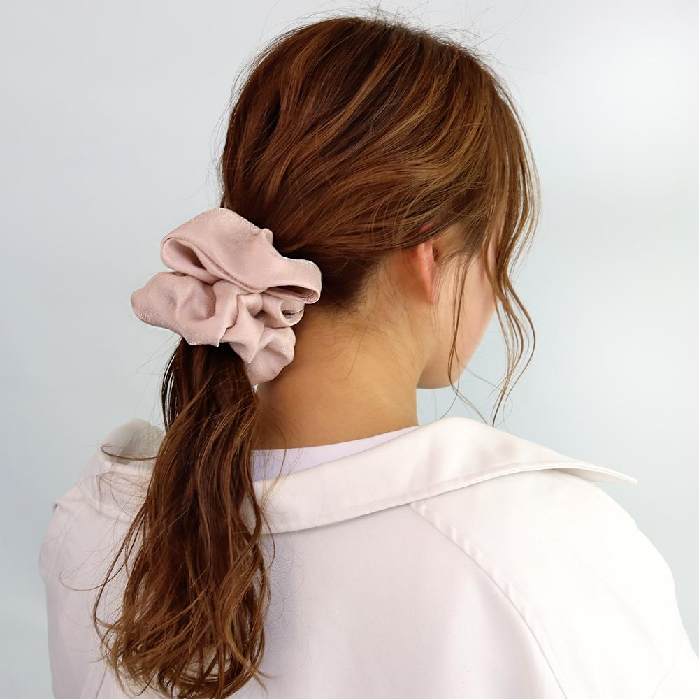 Dull Solid Scrunchie