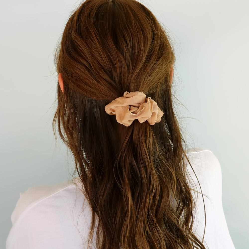 Gold Edge Hair Scrunchie
