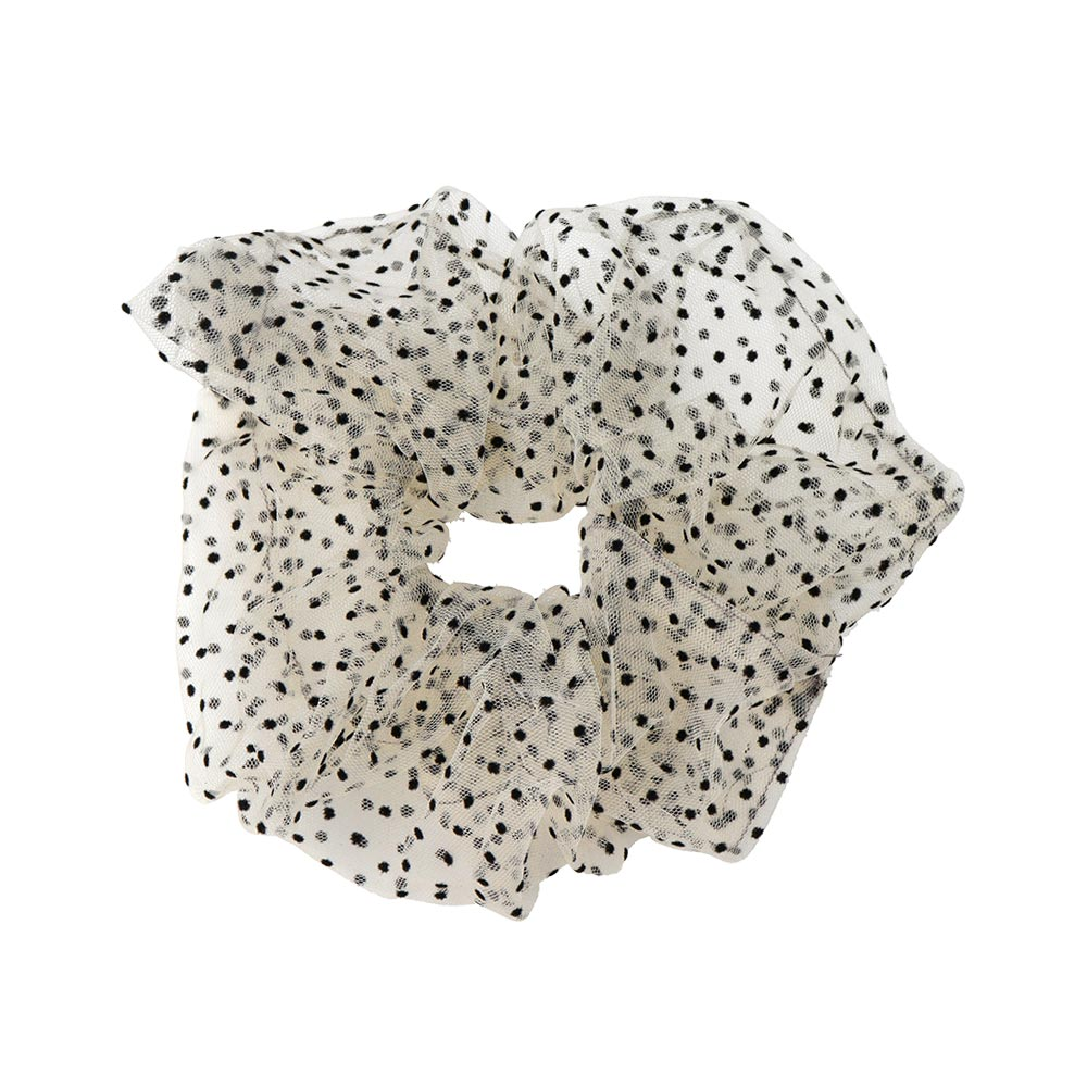 Polka Dot Sheer Hair Scrunchie