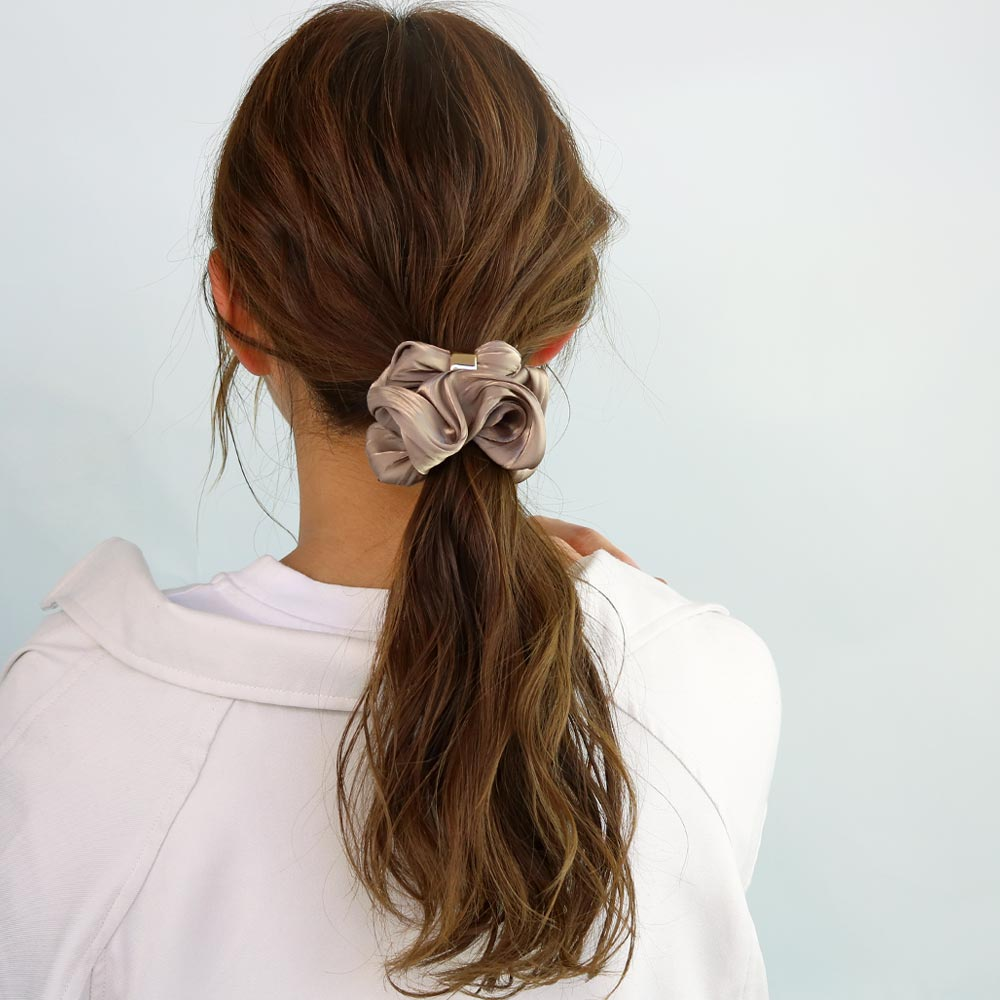 Ring Charm Hair Scrunchie