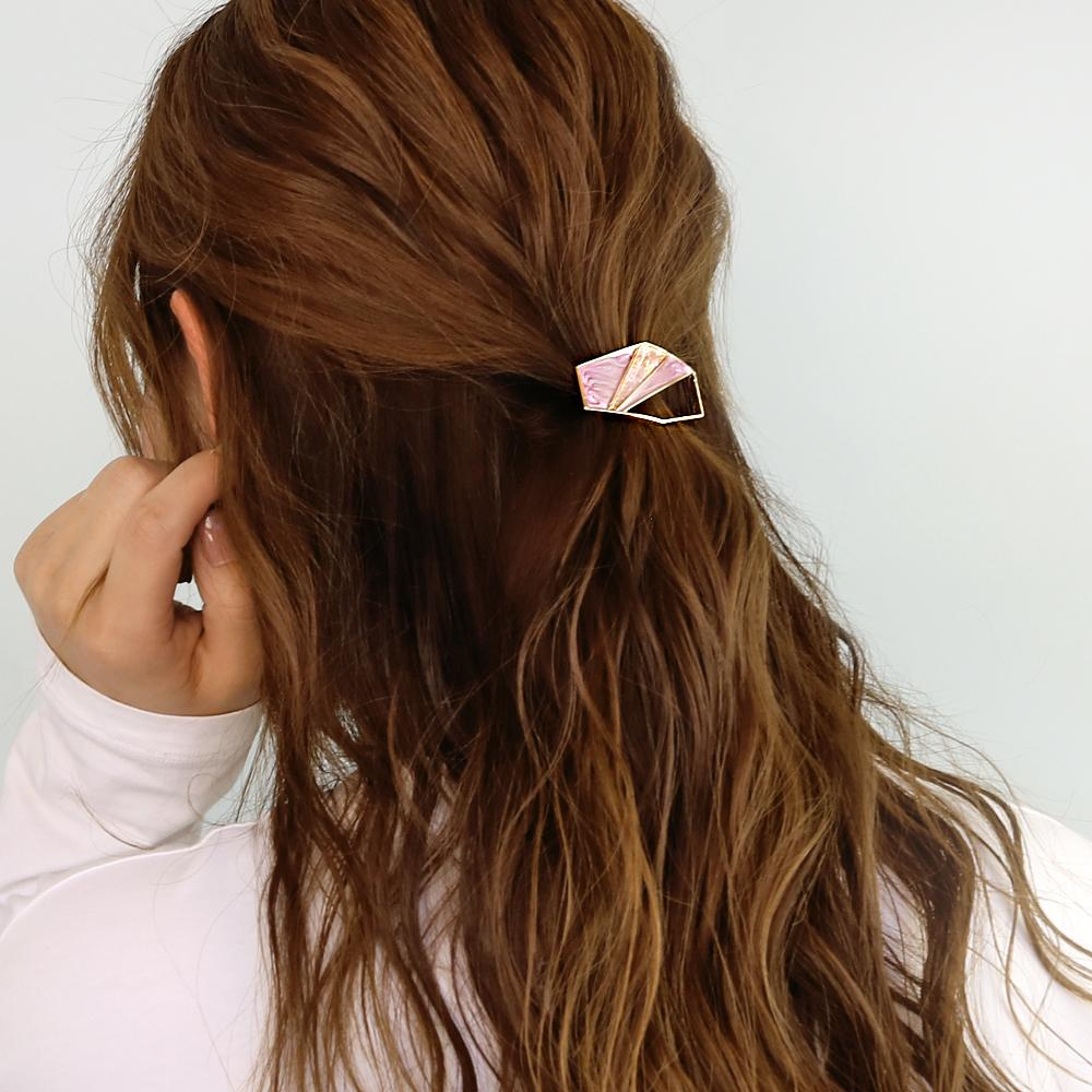 Hollow Geometric Hair Hook Ponytail Cuff