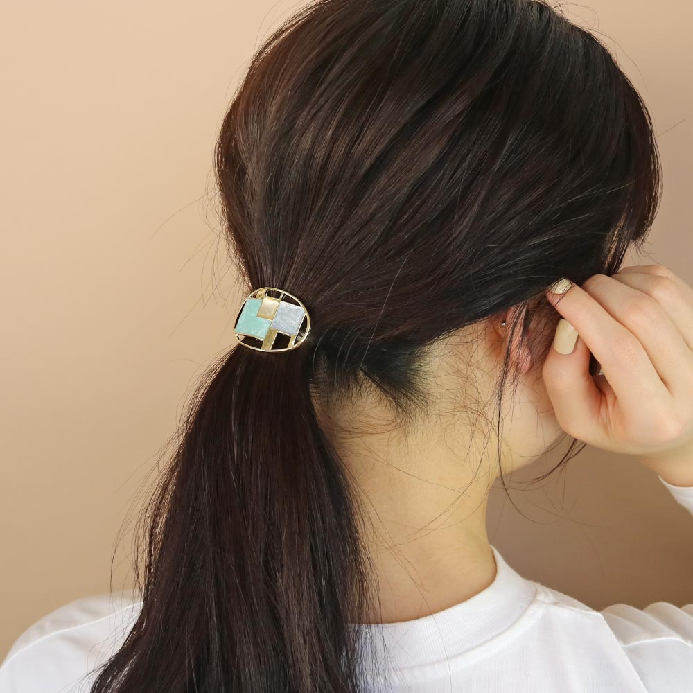 Hollow Oval Hair Hook Ponytail Cuff