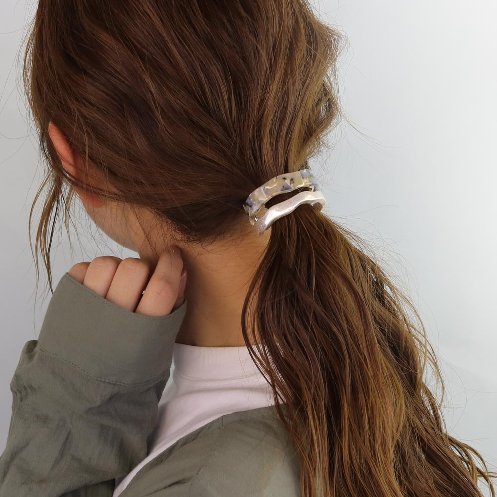 Wavy Bicolor Hair Hook Ponytail Cuff