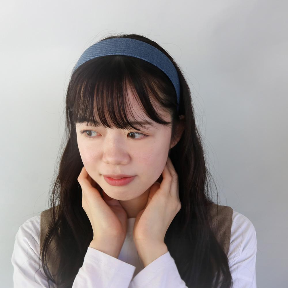 Wide Denim Headband