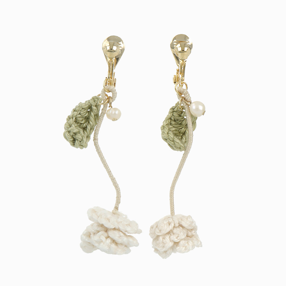 White Clover Clip On Earrings - osewaya