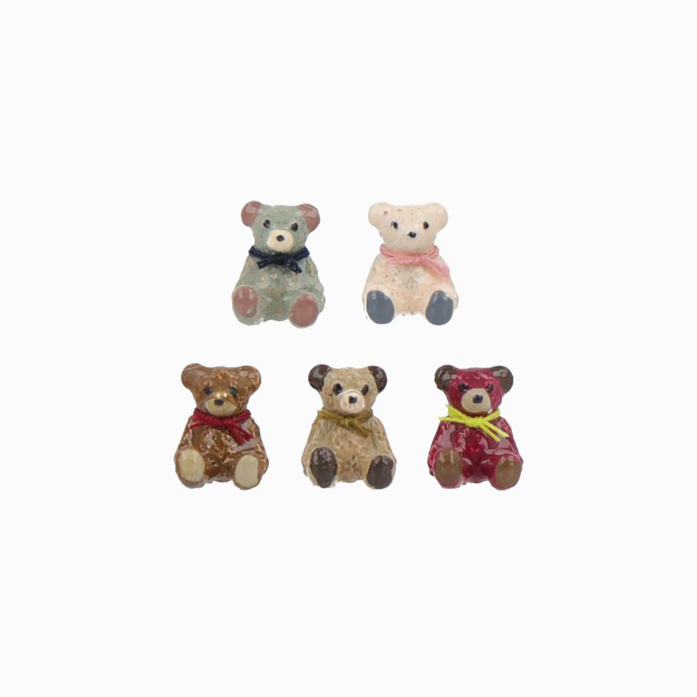 Teddy Bear Friends Earrings - Osewaya