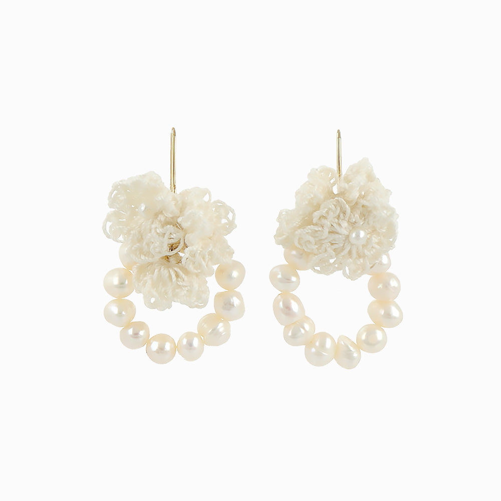 Flower Wreath Earrings - osewaya