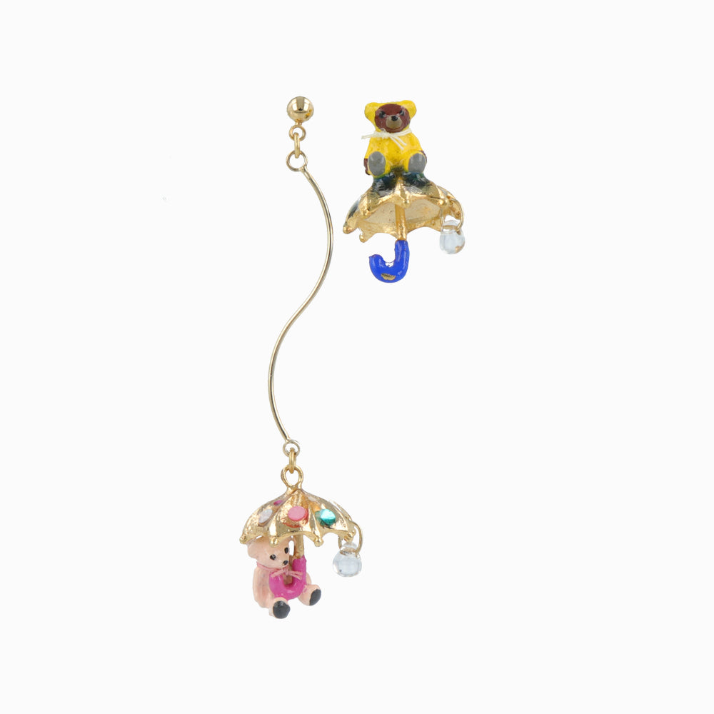 Teddy Bear and Umbrella Earrings - osewaya
