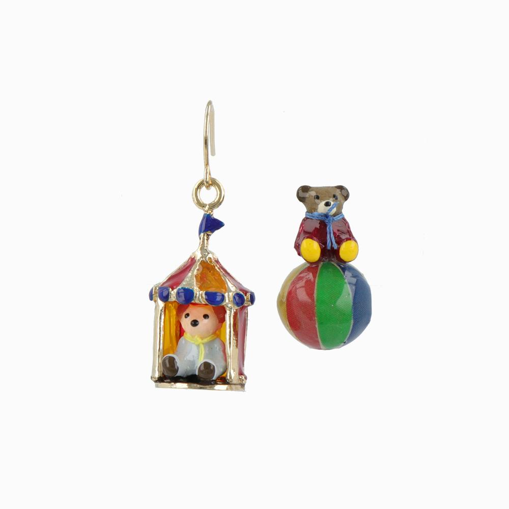 Teddy Bear's Circus Earrings - osewaya