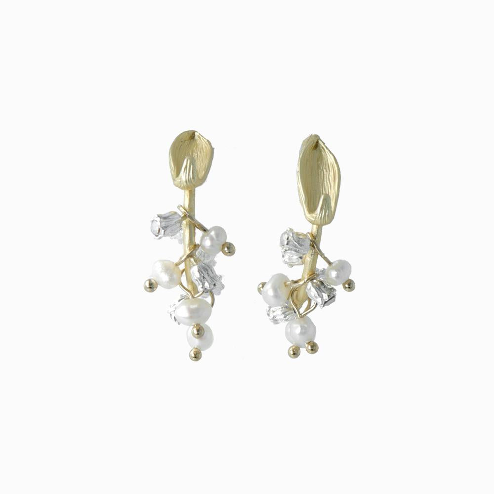Lilly of the Valley C Shaped Earrings - osewaya