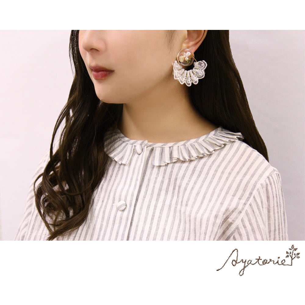 Lace Curtain Earrings