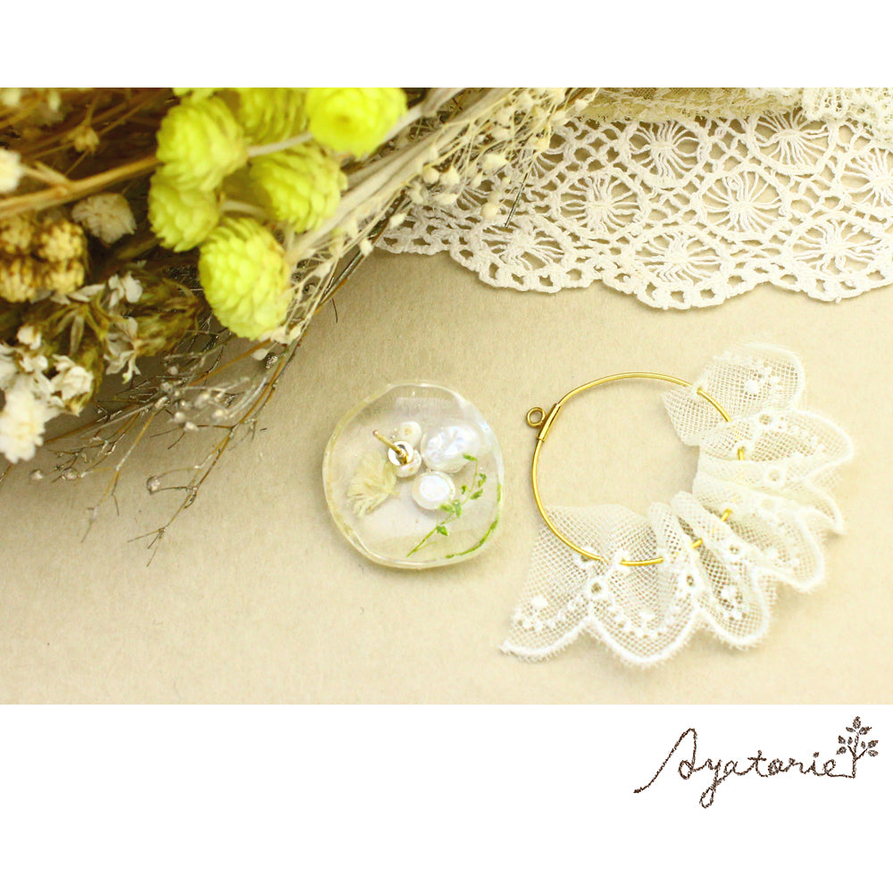 osewaya - Lace Curtain Earrings - Ayatorie - Earrings