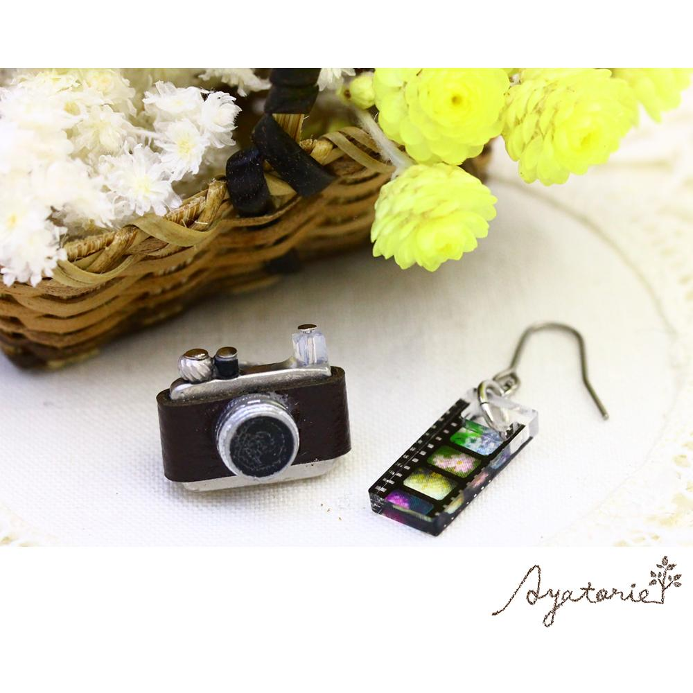 Retro Camera Earrings