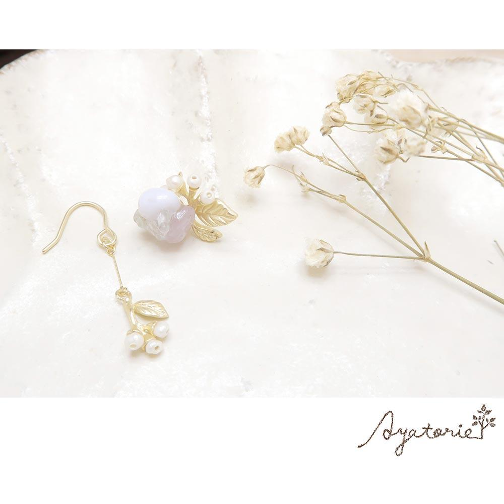 Hydrangea and Raindrops Earrings - Osewaya