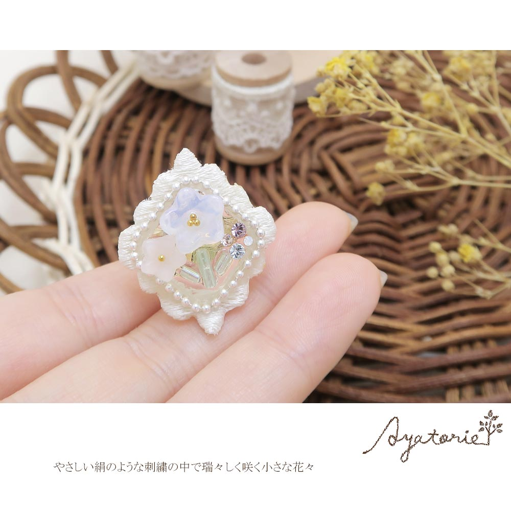 Flower and Embroidery Ring - Osewaya