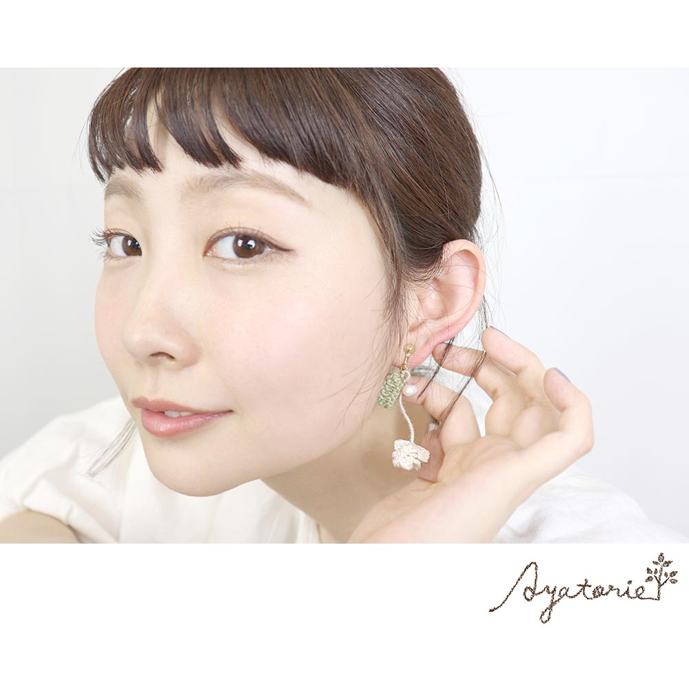 osewaya - White Clover Clip On Earrings - Ayatorie - Earrings