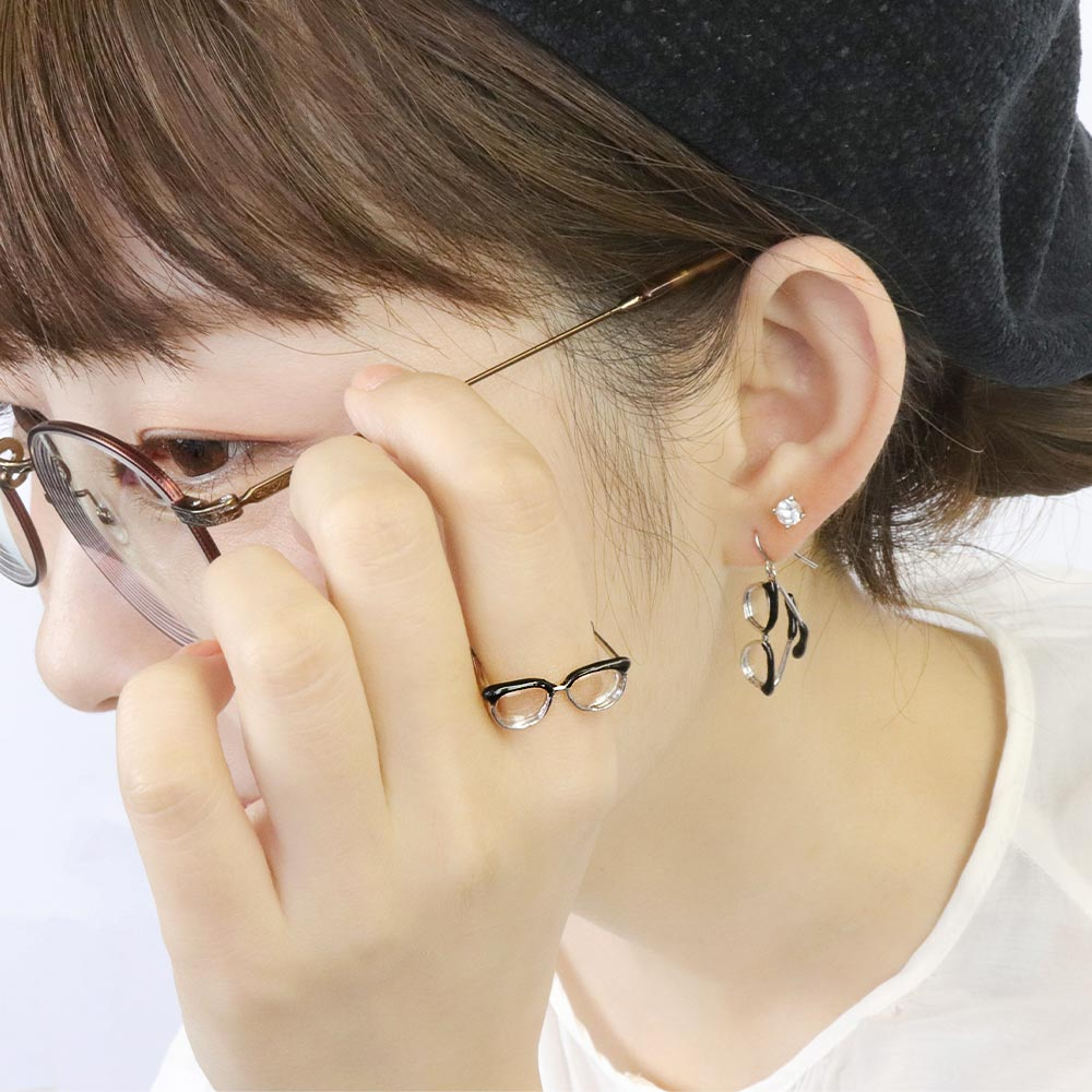 Tiny Browline Glasses Ring