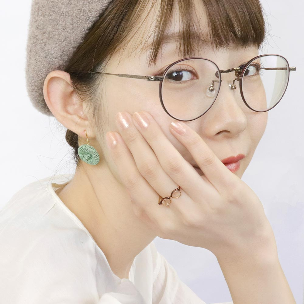 Glasses and Beret Mismatch Drop Earrings