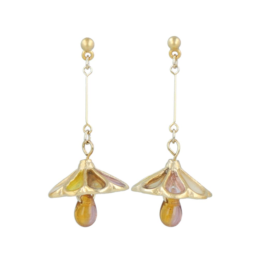 Retro Glass Shade Lamp Earrings - osewaya
