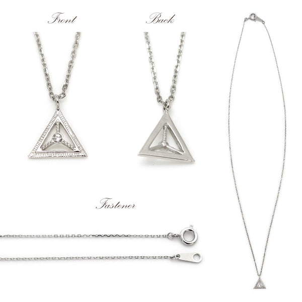 Nickel Free Openwork Triangle Platinum Plating Necklace
