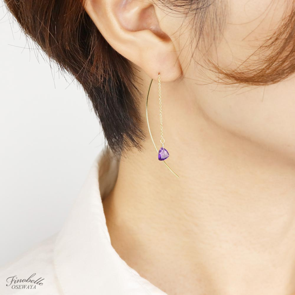 Amethyst Stitch Earrings - Osewaya