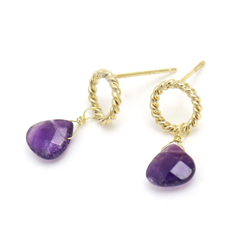 Amethyst Drop Earrings - Osewaya