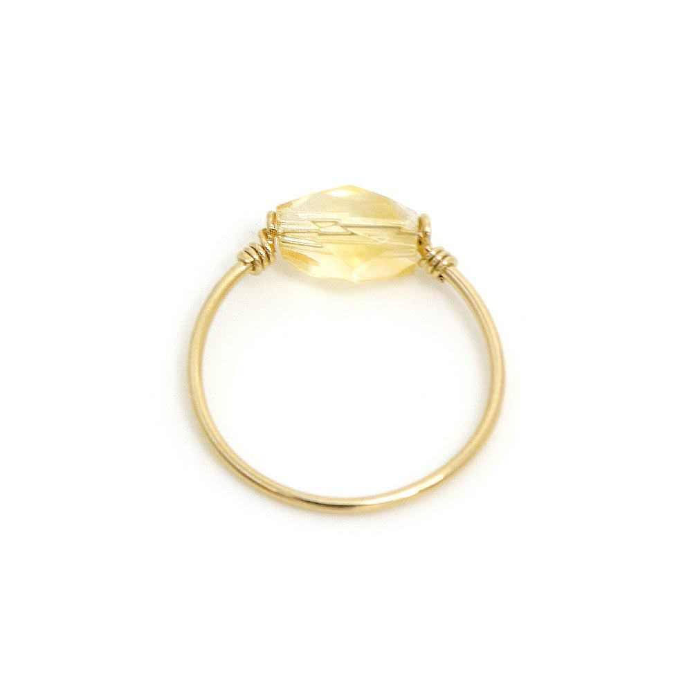 Sterling Silver Citrine Wire Ring - Osewaya