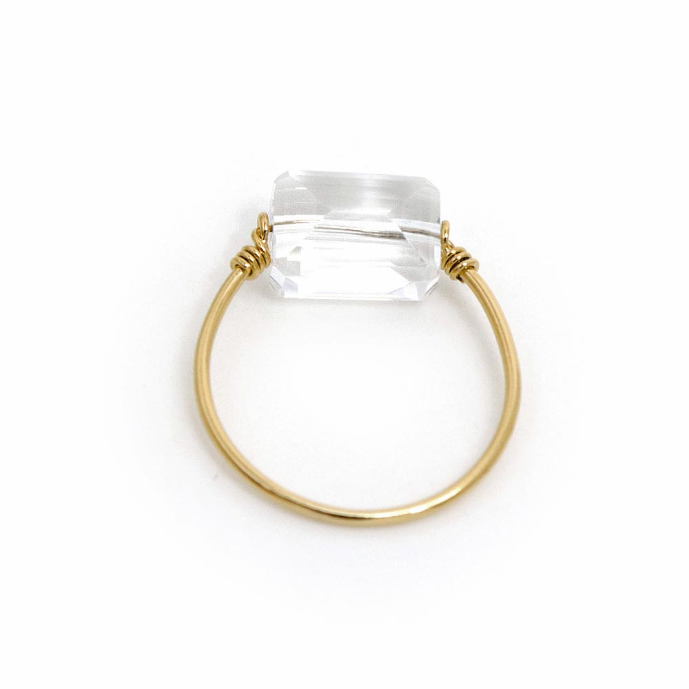 Sterling Silver Quartz Wire Ring - Osewaya
