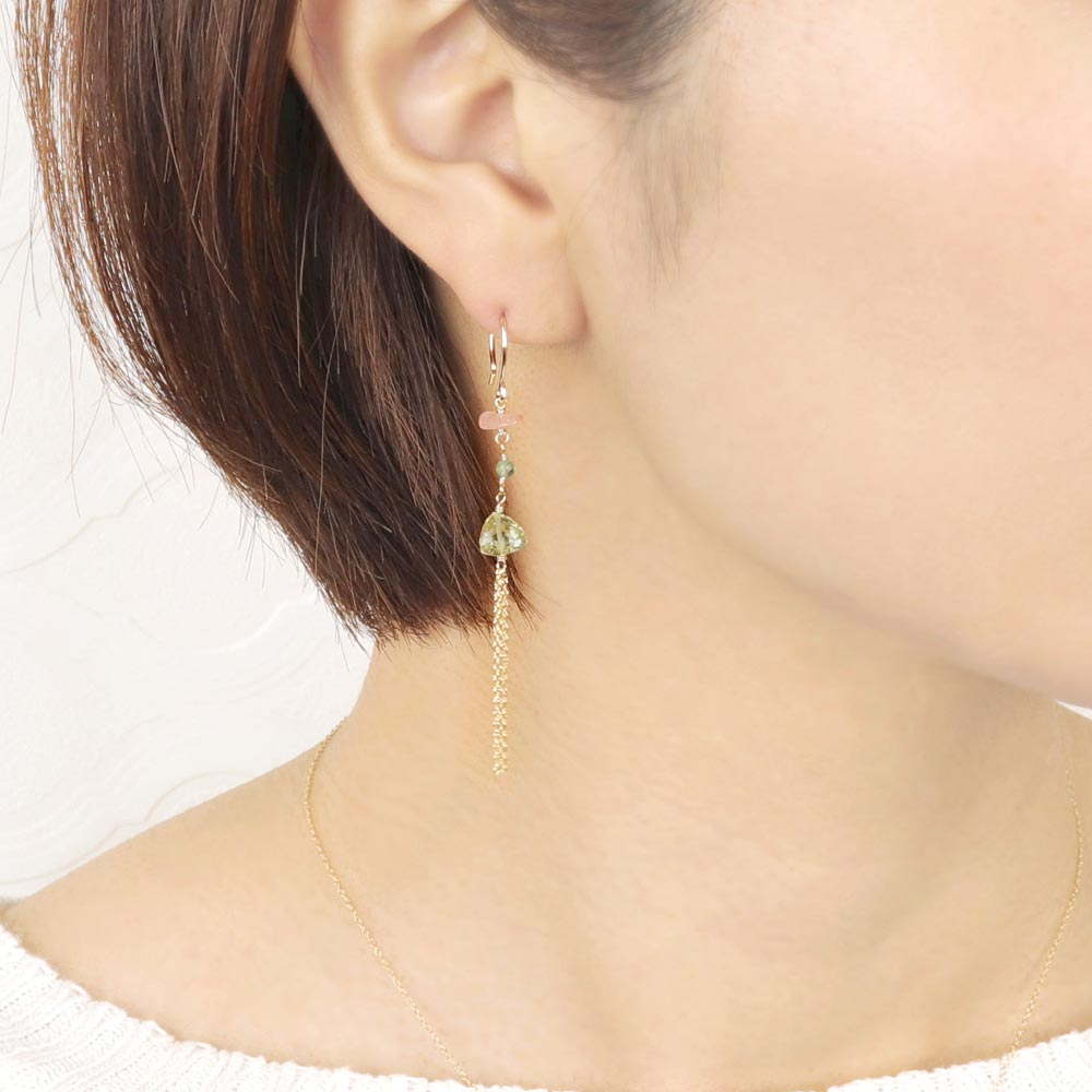 Multiple Gemstone Tassel 925 Silver Earrings