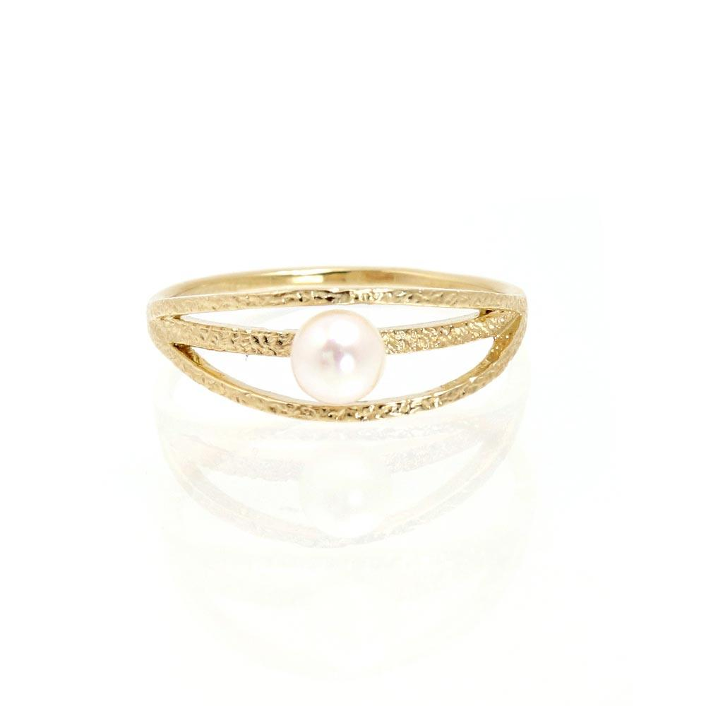 Akoya Pearl Satin Finish Multi Strand Ring #11 - osewaya