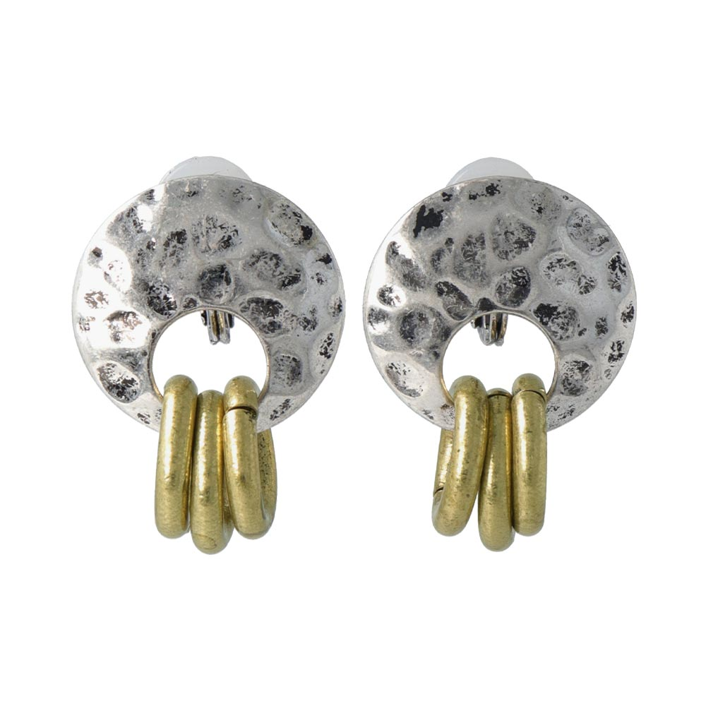 Triple Ring Sleeved Clip On Earrings - osewaya