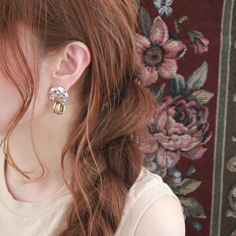 Triple Ring Sleeved Clip On Earrings