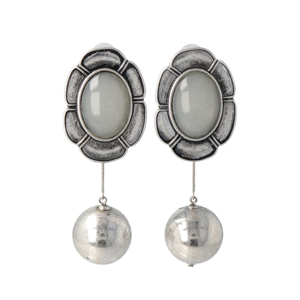 Flower Ball Changeable Sleeved Clip On Earrings - osewaya