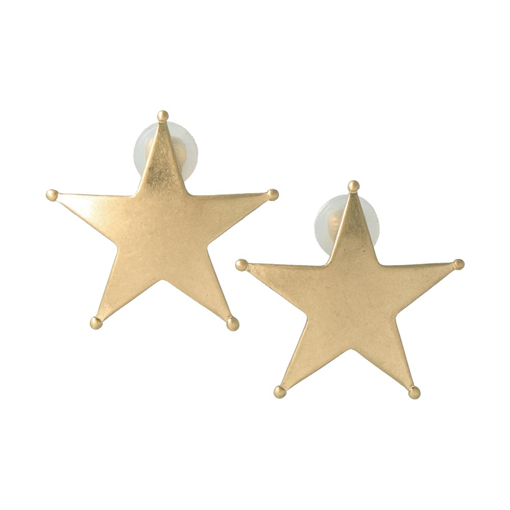 Star Sleeved Clip On Earrings - osewaya