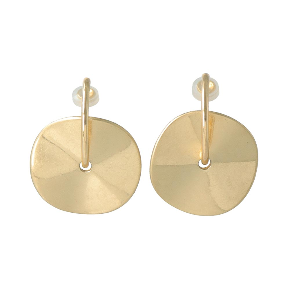 Disc Hoop Sleeved Clip On Earrings - osewaya