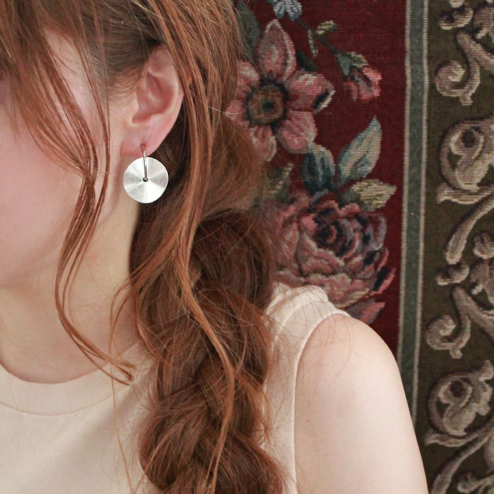 Disc Hoop Sleeved Clip On Earrings