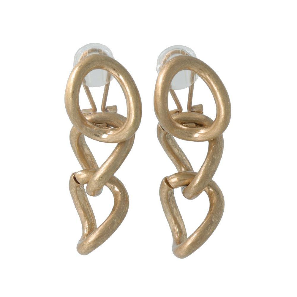 Large Link Changeable Sleeved Clip On Earrings - osewaya