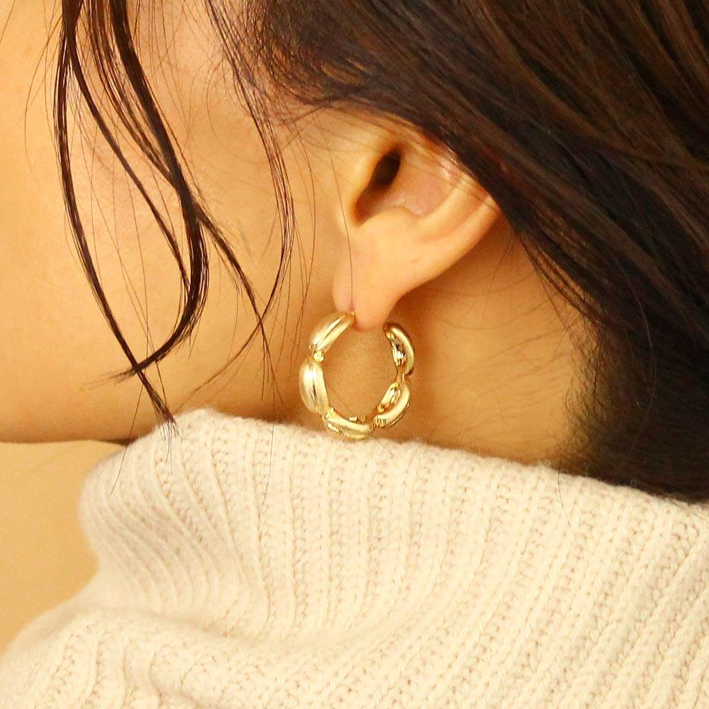 Station Hoop Earrings