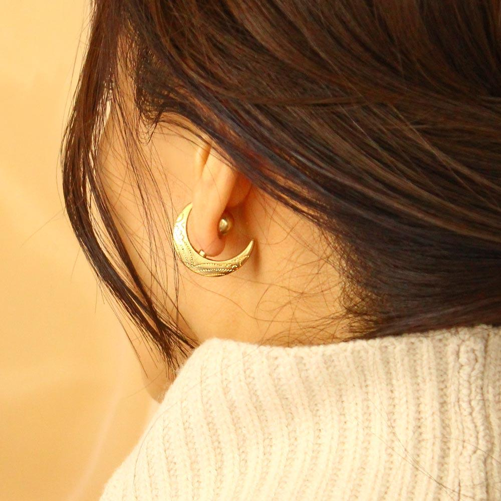 Crescent Moon Front Back Earrings