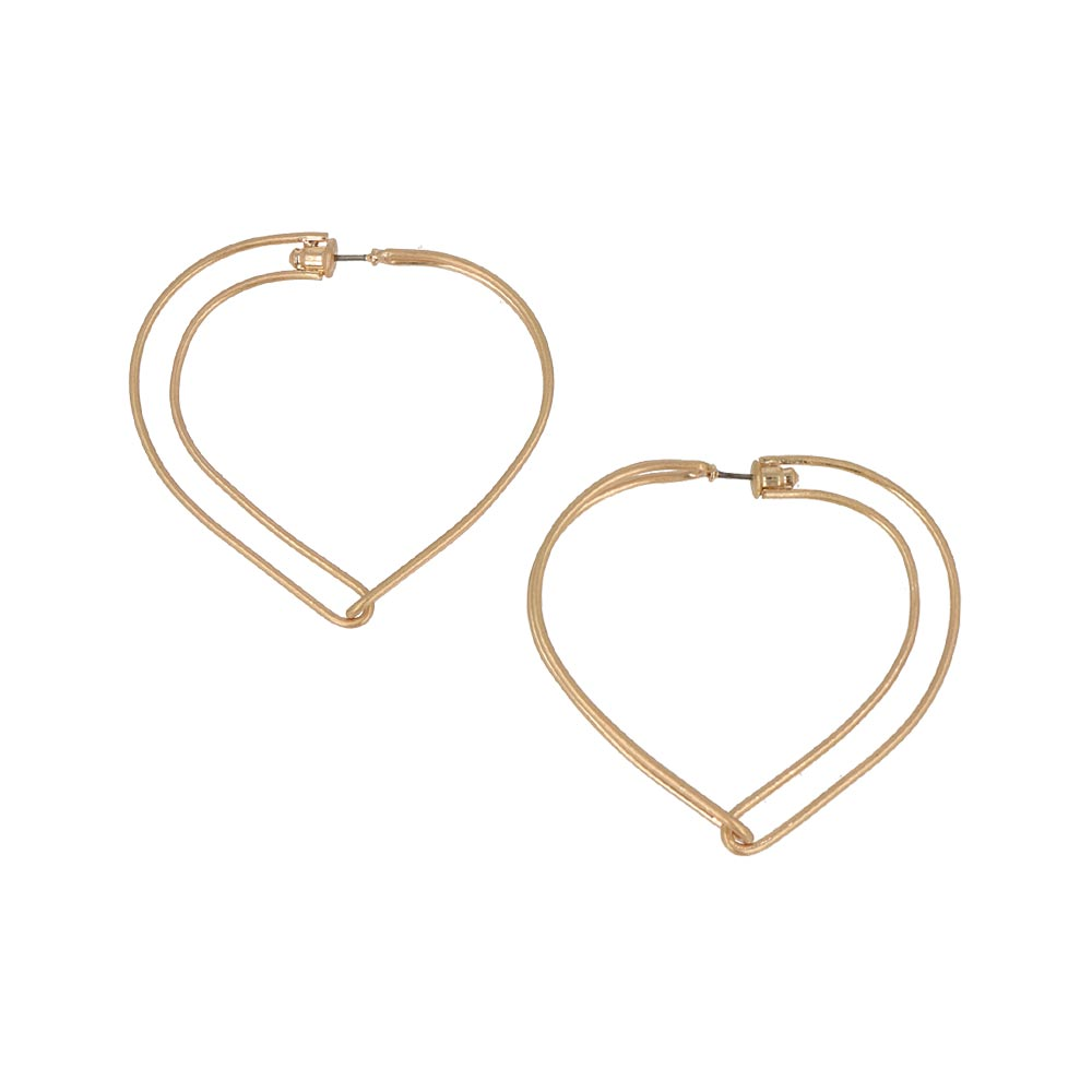 Heart Hoop Earrings - osewaya