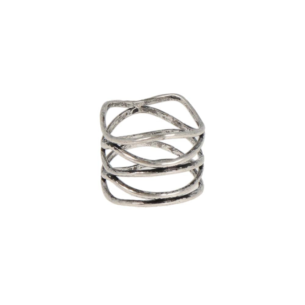 Native Style Hollow Mesh Ring - osewaya