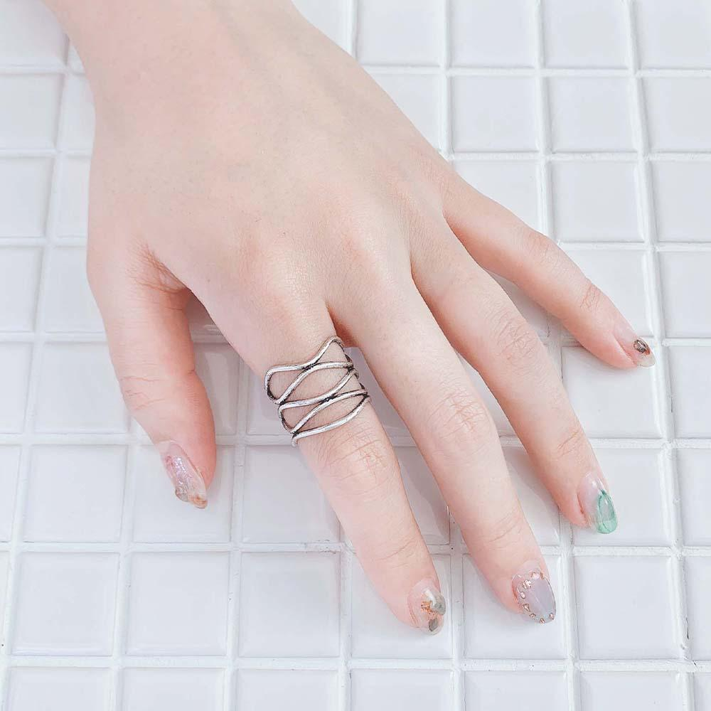 Native Style Hollow Mesh Ring