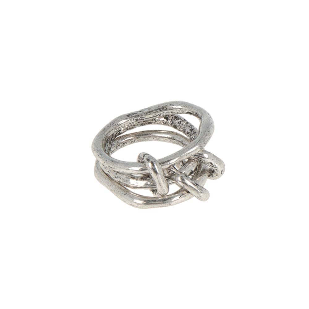 Native Style Triple Link Ring - osewaya